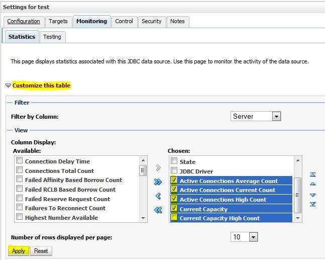 Understanding WebLogic 11g JDBC and Configuring Data Sources