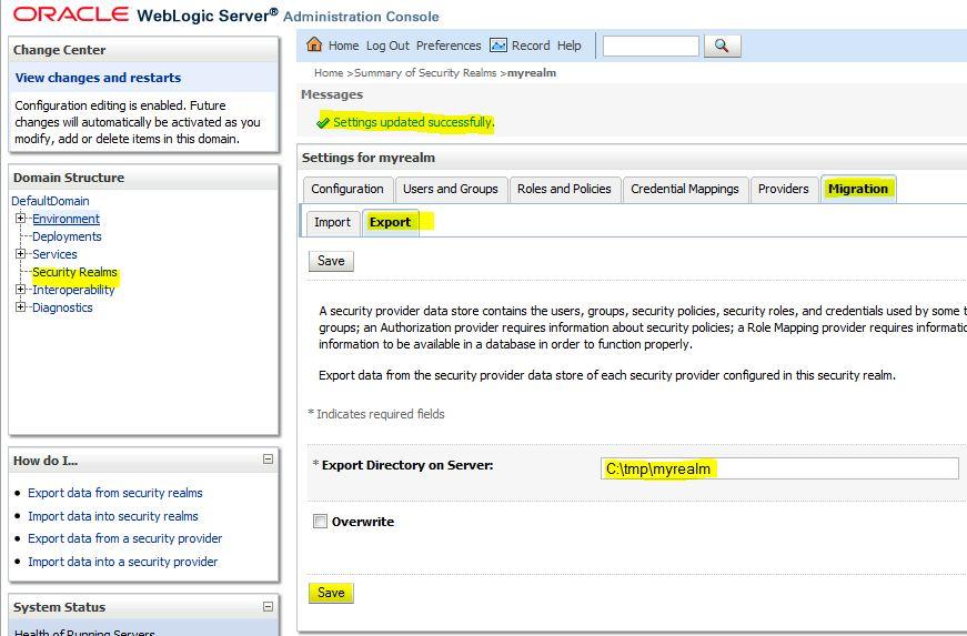 weblogic security-role-assignment